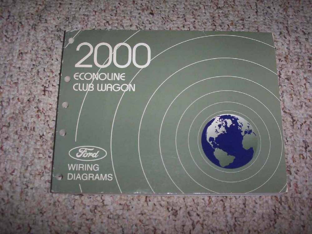 details about 2000 ford econoline electrical wiring diagram manual e150  chateau xl xlt 4 2l v6