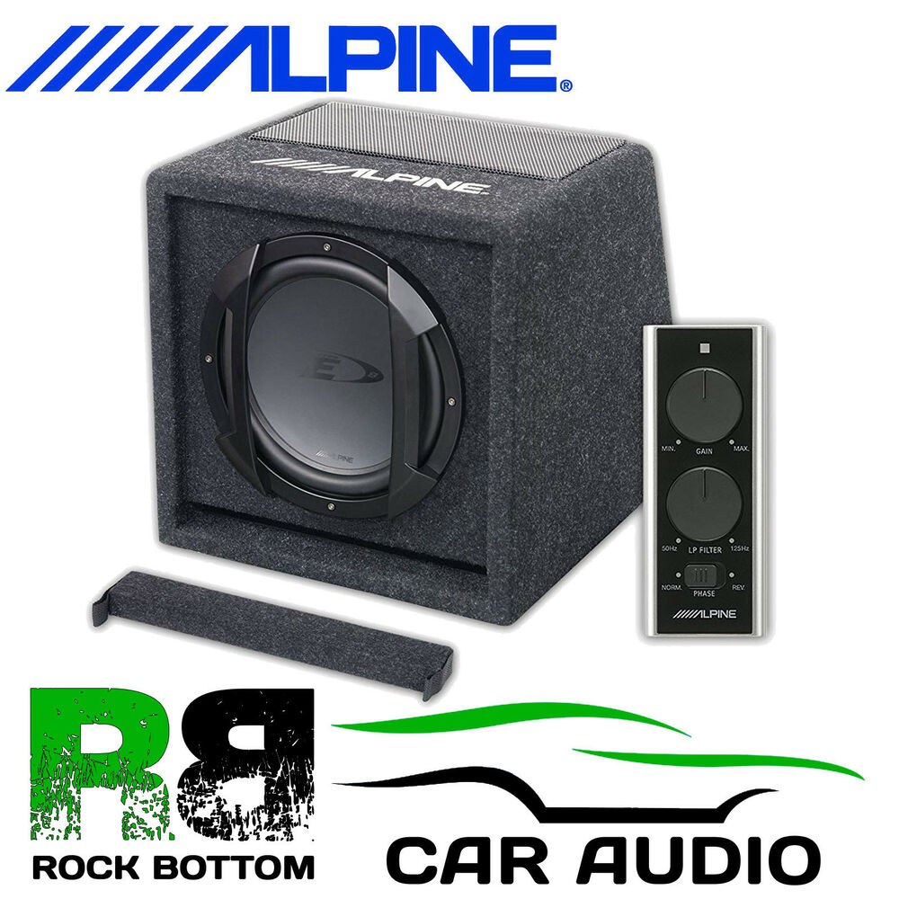 alpine swe 815 8 20cm active 300 watts amplified car sub. Black Bedroom Furniture Sets. Home Design Ideas