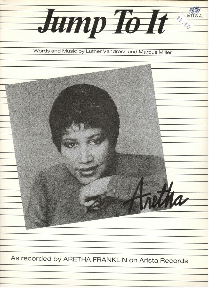 Aretha Franklin Jump To It Sheet Music Pianovocalguitarchords