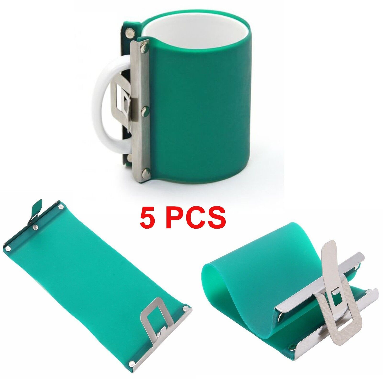 5PCS 3D Sublimation Silicone Mug Wrap 11OZ Cup Clamp Fixture for Printing Mugs