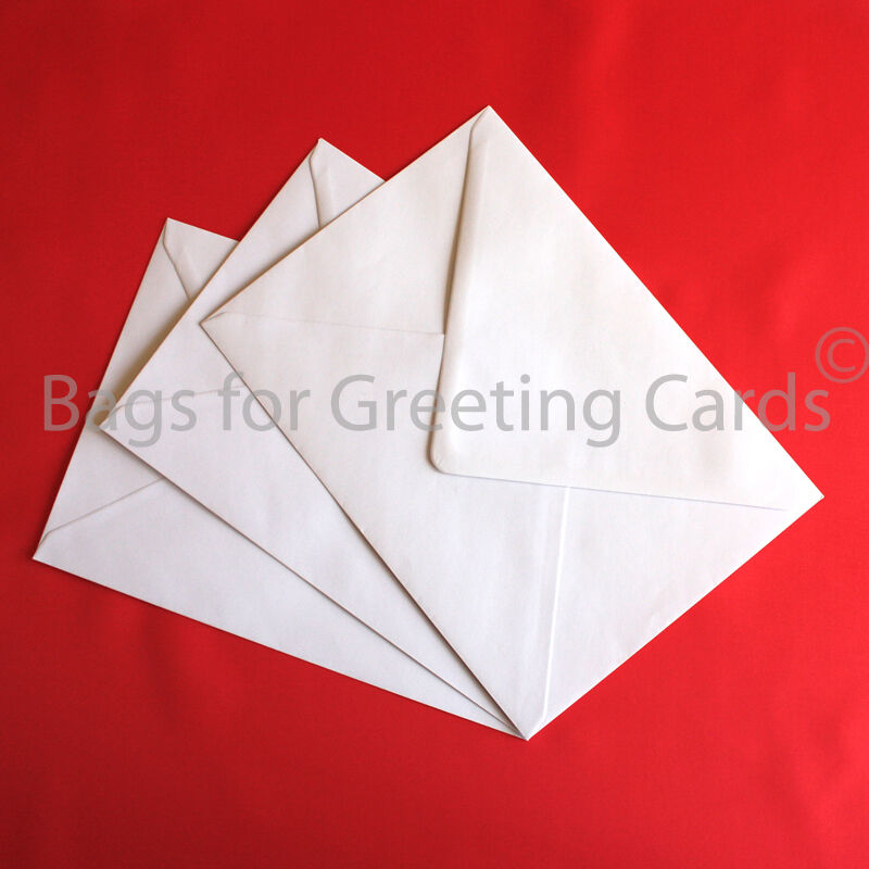Quality White Envelopes for Greeting Cards Wide choice of sizes.