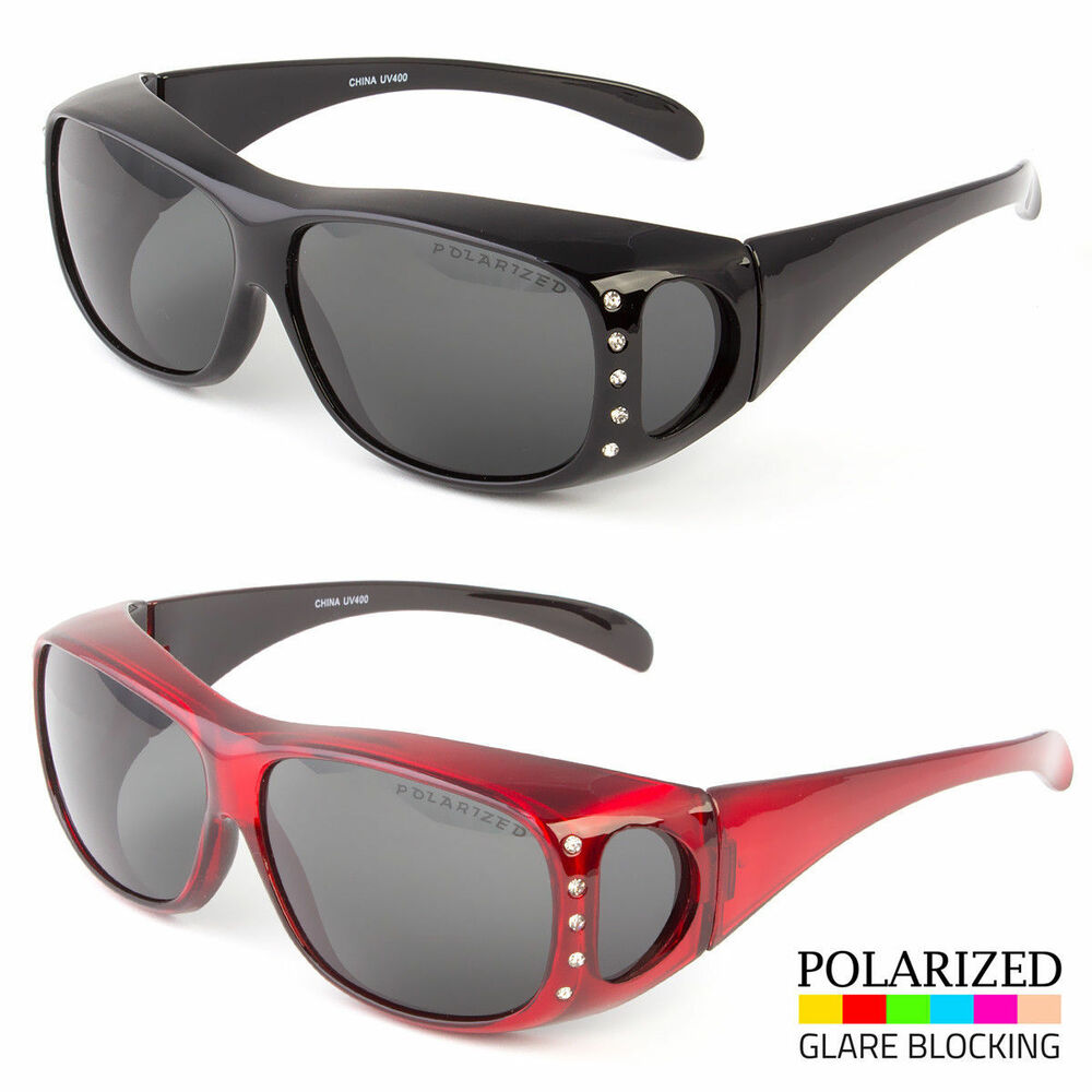62beb327f15f Details about 1 Pair POLARIZED cover put over Sunglasses wear Rx glass fit  driving SIZE Large