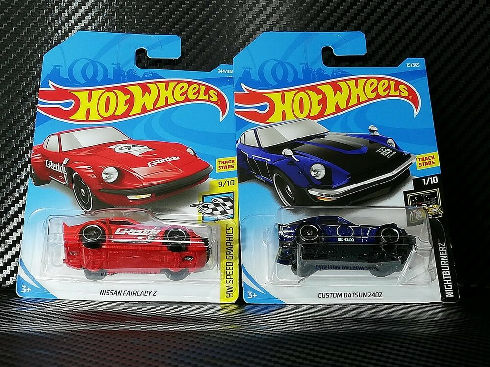 Details About Hot Wheels 2017 15 Custom Datsun 240z Blue 2018 244 Nissan Fairlady Z Red