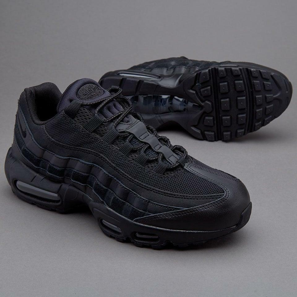 sale retailer 19ab0 55359 Details about NIKE AIR MAX 95 ESSENTIAL TRAINERS, UK9, TRIPLE BLACK BLACK,  749766009, OG RETRO