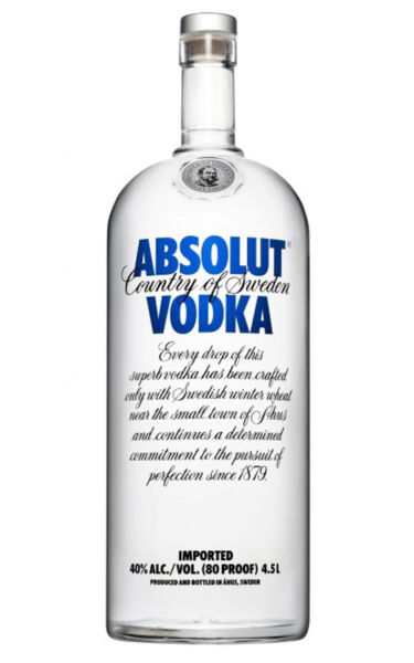 Vodka Absolut  4,5 Litri    450 cl   40% vol.