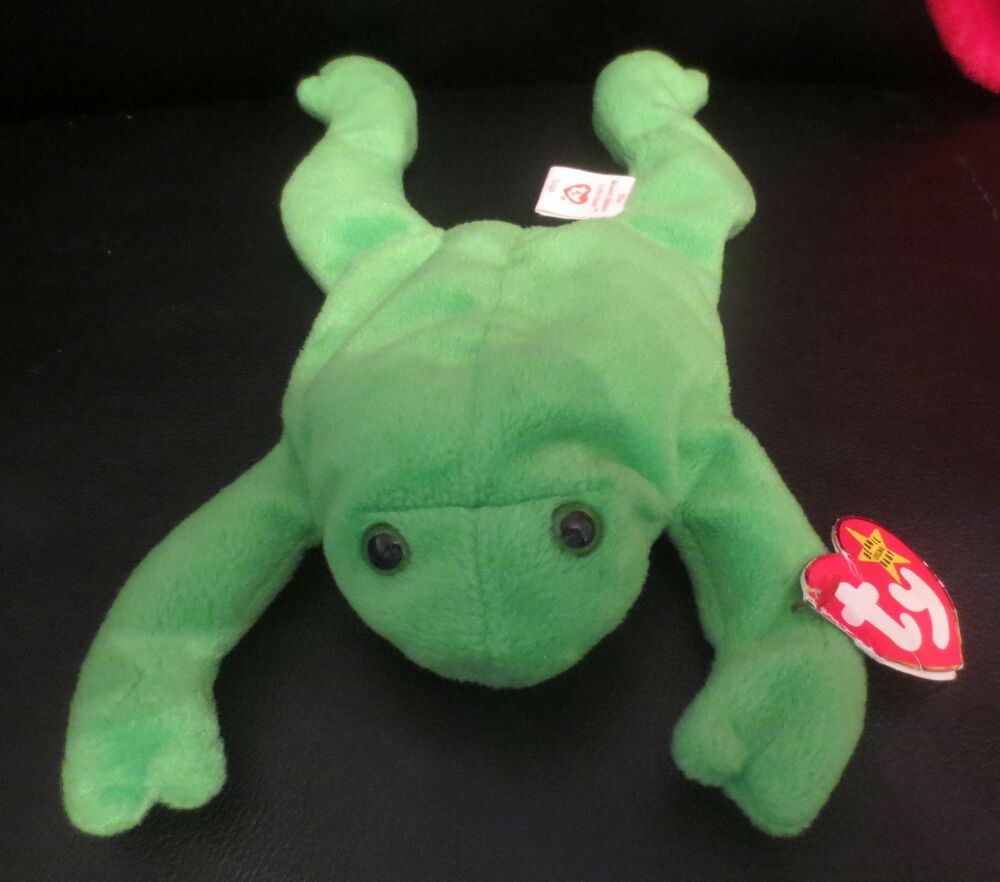 3127006f4b6 Details about Ty Beanie Baby Legs the Frog 4th Generation Tag with 3rd  Generation Tush CREASED