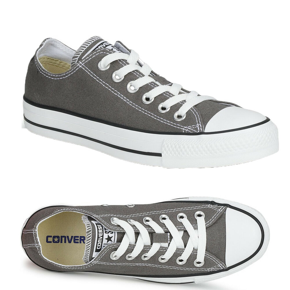 2cf65be07ffd Details about LADIES MENS WOMENS UNISEX GREY CONVERSE ALL STARS OX LO CHUCK  TAYLORS ALL SIZE