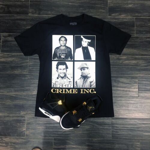 Effectus Clothing Tee to Match Gold Royalty Jordan Retro 4- Crime INC Tee
