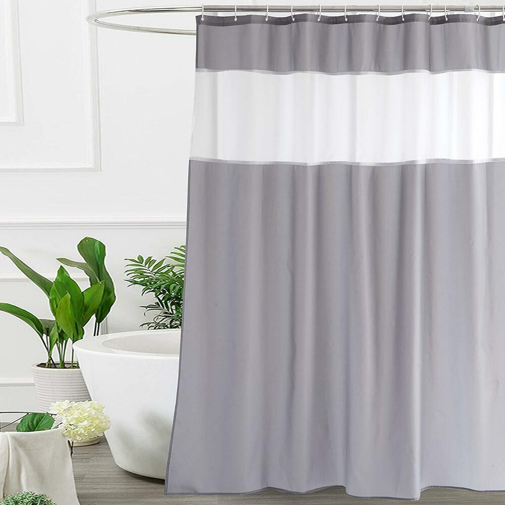 Details About UFRIDAY Shower Curtain Grey And White By Modern Fabric 48 X 72 Inch