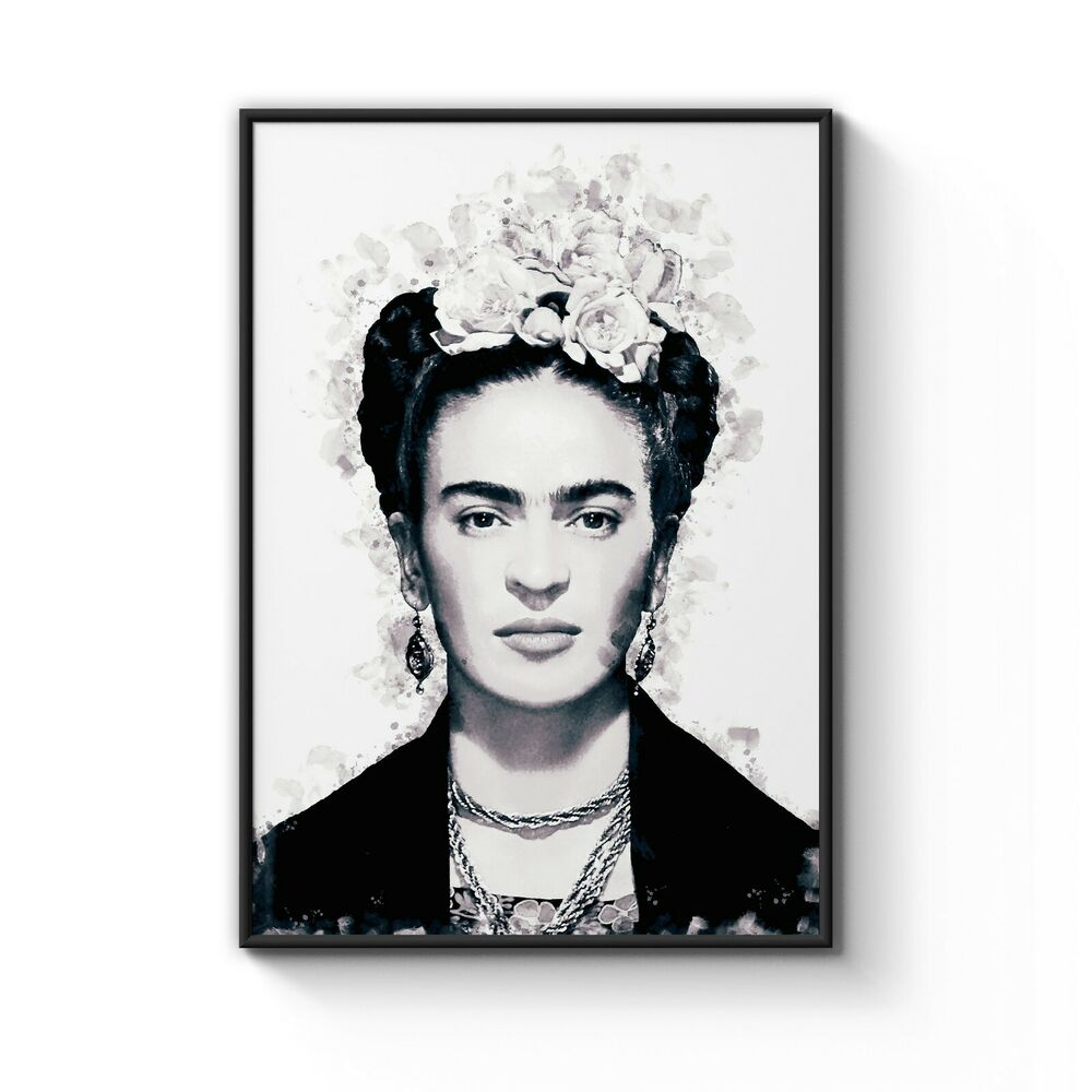 Details about frida kahlo black ink drop fashion style home decor art poster print a4 to a0