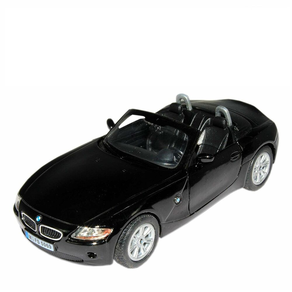 "Bmw Z4 Convertible Black: 5"" Kinsmart BMW Z4 Convertible Diecast Model Toy Car 1:32"