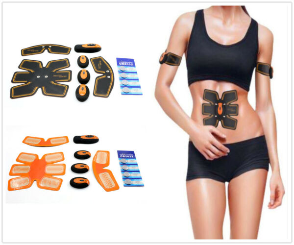 Muscle Stimulator Abdominal Toning Belt Muscle Toner Abs Pads Trainer Gear cckk
