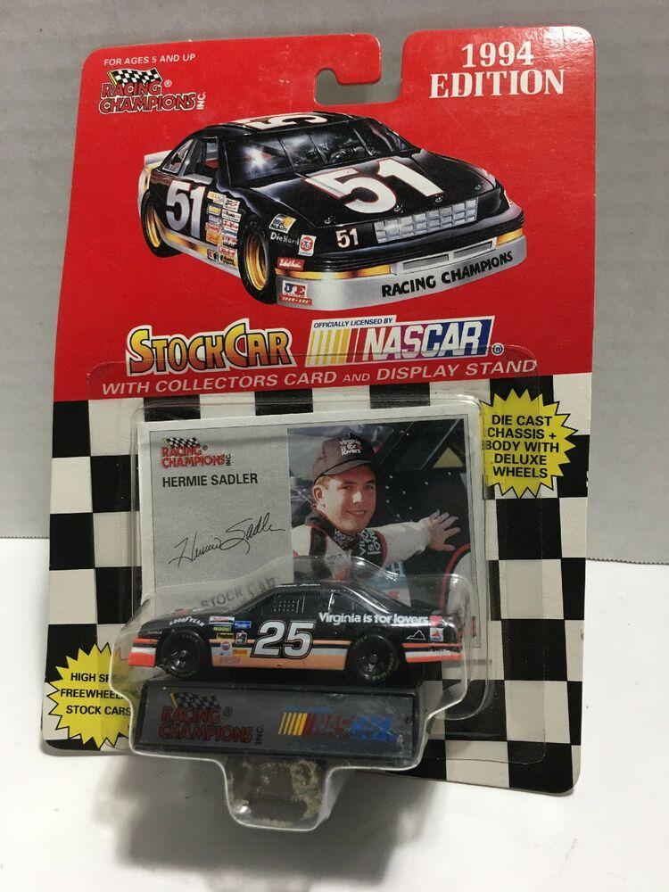 New 1994 Racing Champions 1:64 NASCAR Hermie Sadler Virginia Is For Lovers #25