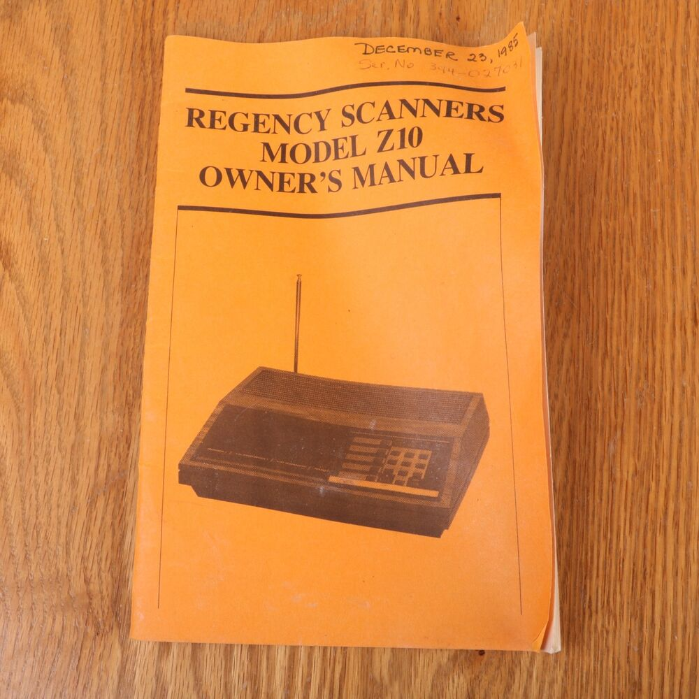 regency scanner manuals