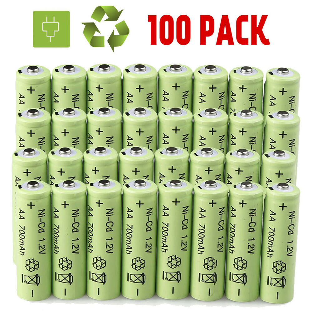 lot aa double a battery 1 2v nicd 700mah rechargeable batteries for garden light ebay. Black Bedroom Furniture Sets. Home Design Ideas