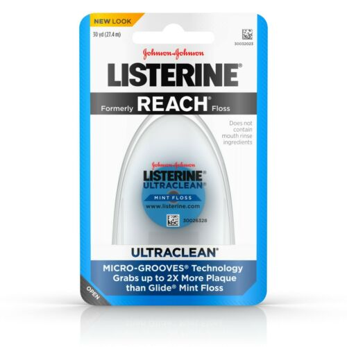 Listerine Ultraclean Dental Floss, Oral Care, Mint-Flavored, 30 Yards