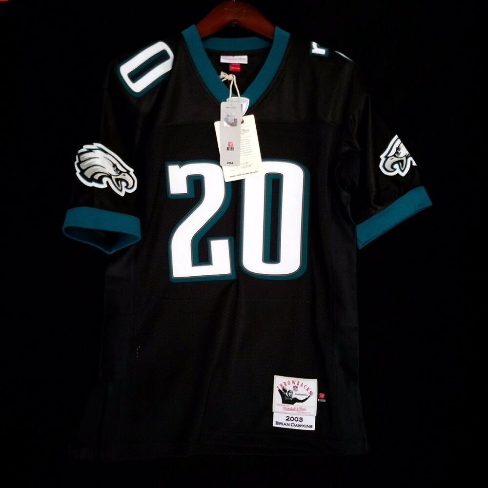best website c80c9 a764e 100% Authentic Brian Dawkins Eagles Mitchell Ness NFL Jersey ...