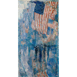 Kyпить The Avenue in the Rain by Childe Hassam  Giclee Canvas Print Repro на еВаy.соm