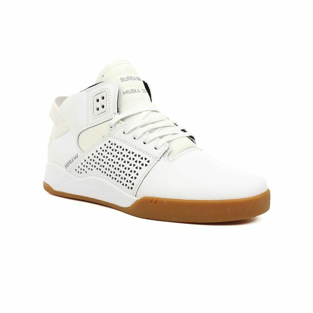 2262c8114bb6 Details about Supra Shoes Skytop 3 High Top - White Gum