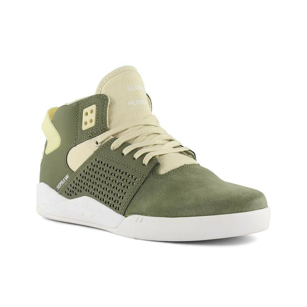 440a1d385bf4 Details about Supra Shoes Skytop 3 High Top - Olive White