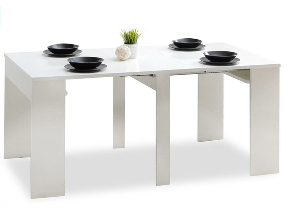 Details About Table Extendable 48 270cm WHITE GLOSS Kitchen Dining Living Room