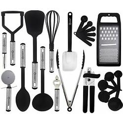 Kyпить Cooking Kitchen Utensils Set Stainless Steel 23 Piece Heat Resistant Utensils на еВаy.соm