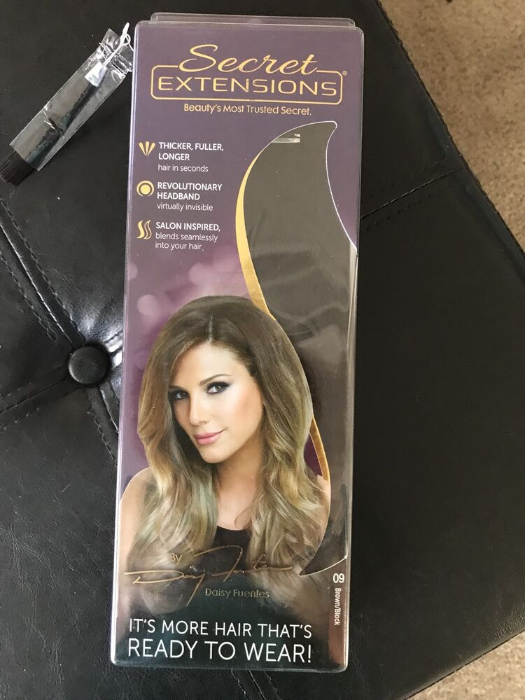 Brand New Factory Sealed Secret Extensions Headband Style In 09 Black Brown 16 740275044636 Ebay