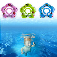 Baby Newborn Safety Swimming Circle Neck New Aid Toy Bath Inflatable Float Ring
