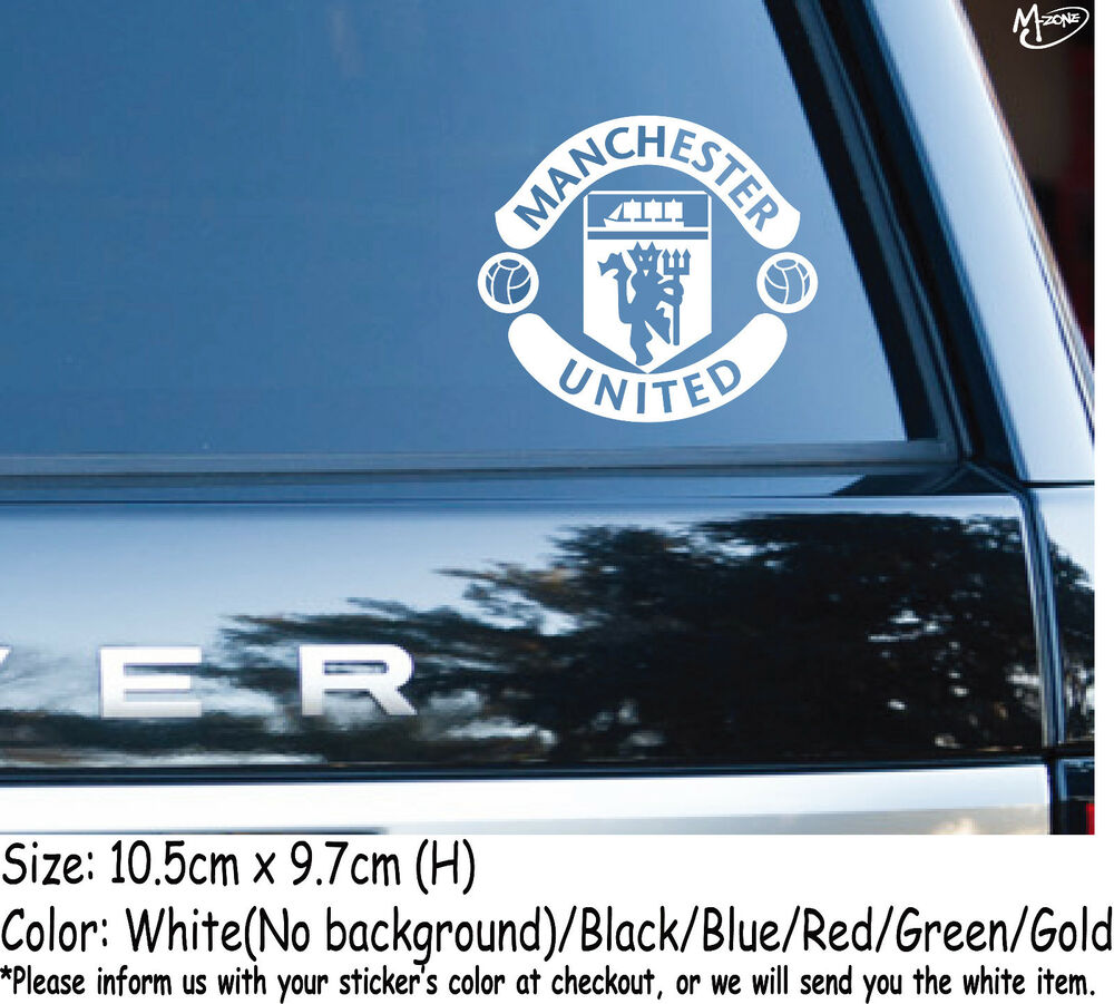 Details about manchester united stickers refelctive car decals football club best gifts