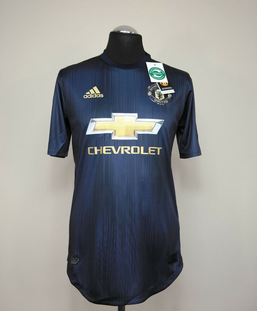4cf254bc4 Manchester United Player Issue Away 3rd Shirt Adult Medium 2018 2019 ...