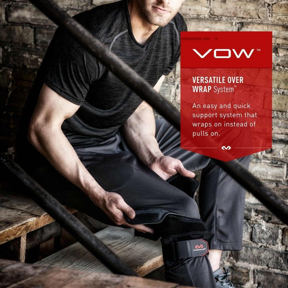 41bc5ffd1e Details about McDavid 4203 VOW Versatile Over Wrap Knee Support Brace With  Stays & Straps