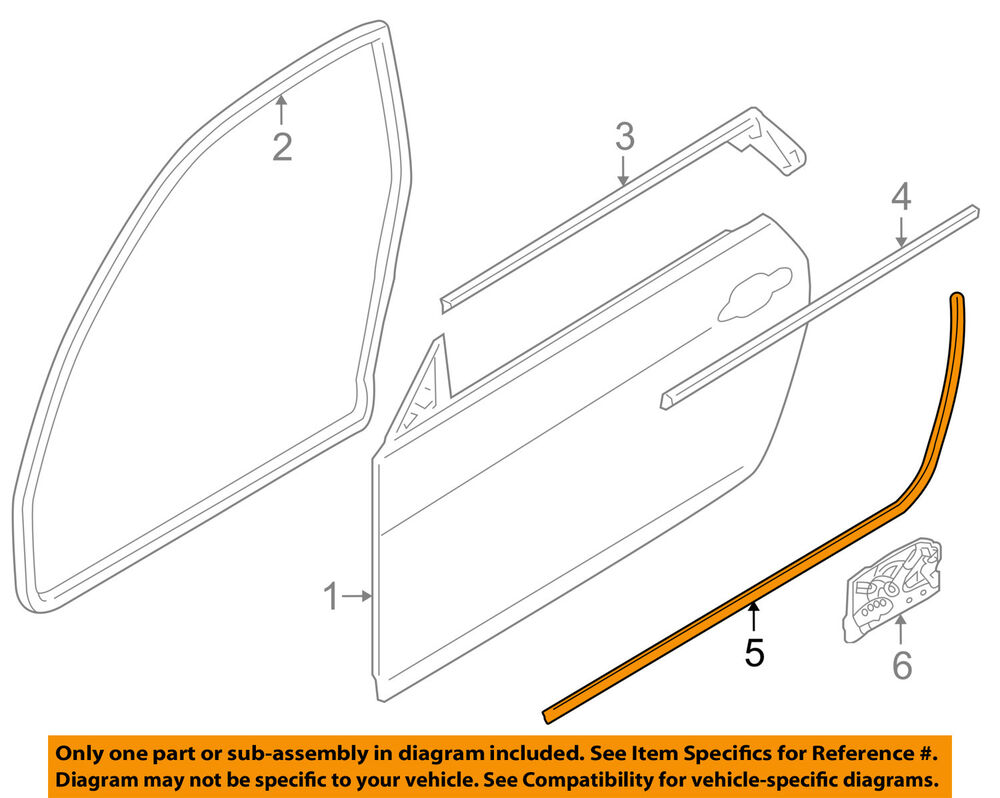 details about bmw oem 08-13 128i door-lower seal strip right 51377164942