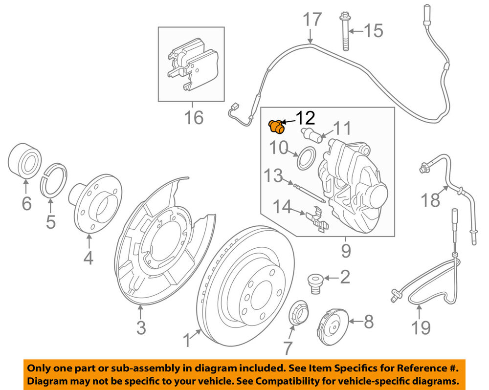 Bmw Oem 14 18 X5 Brake Front Caliper Cap 34116780508 Ebay 428i Engine Diagram