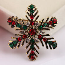And Brooches Snowflake Christmas Pins Rhinestone Brooch For Women