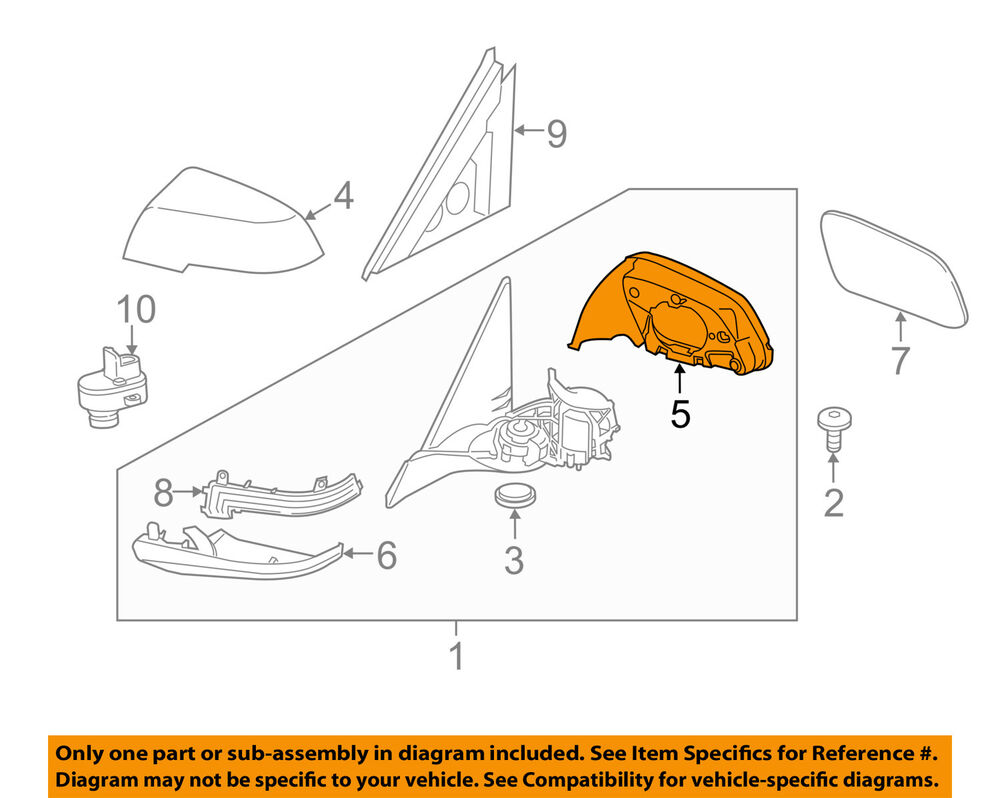 Bmw Oem 12 16 328i Door Side Rear View Mirror Support Housing Right 428i Engine Diagram 51167284124 Ebay
