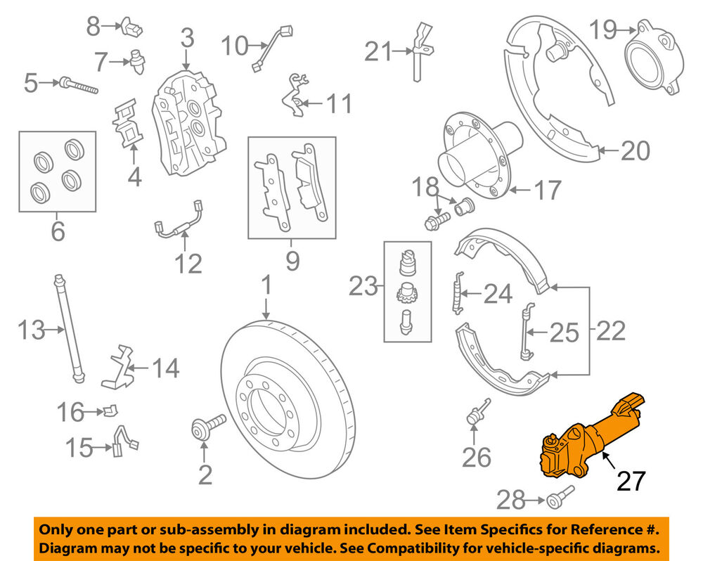 Porsche Oem 11 17 Panamera Parking Brake Motor 298609404 Ebay 918 Spyder Engine Diagram