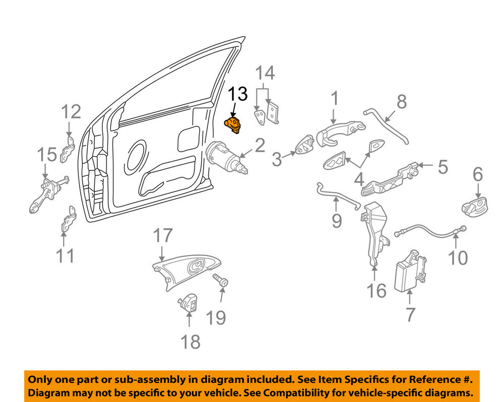 Ford Focus Door Lock Diagram