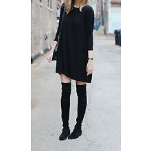 Women's Over The Knee Thigh High Stretch Upper Round Toe Flat Boots US STOCK!!!!