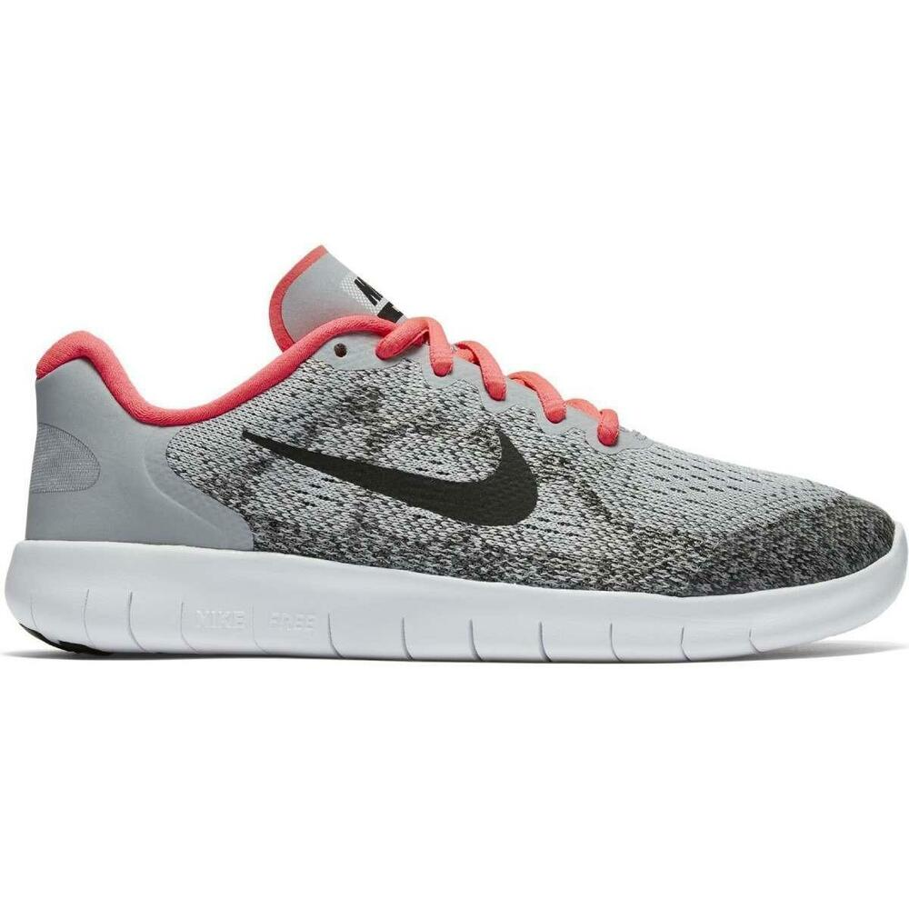 7c0170926e05 Details about Junior Girls NIKE FREE RN 2017 Running Wolf Grey Trainers  904258 001