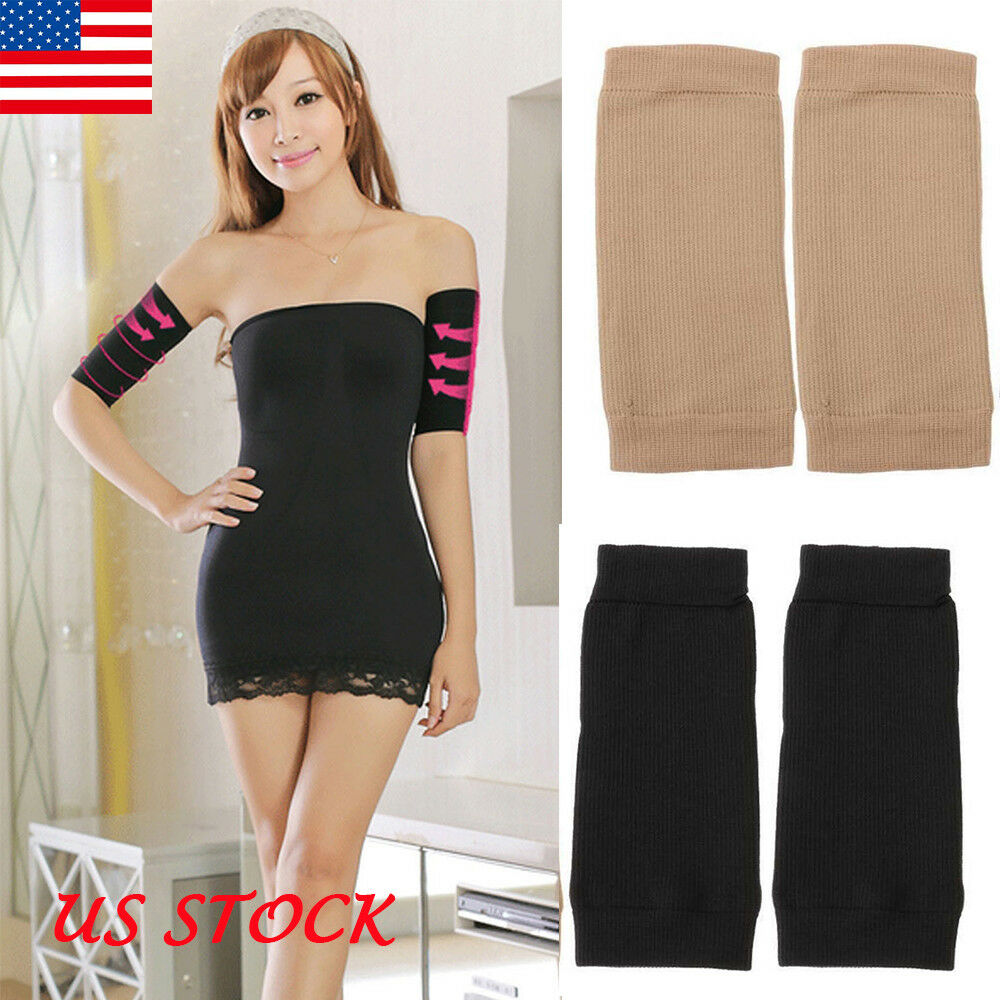 1pair Arm Slimming Compression Arm Sleeve Shaping Arm Shaper Upper Supports Body