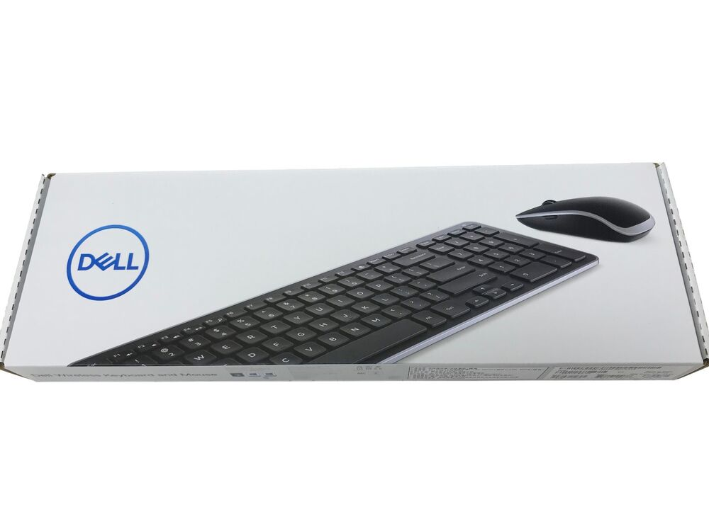 new dell wireless keyboard and mouse combo km714 km714 bk us ebay. Black Bedroom Furniture Sets. Home Design Ideas