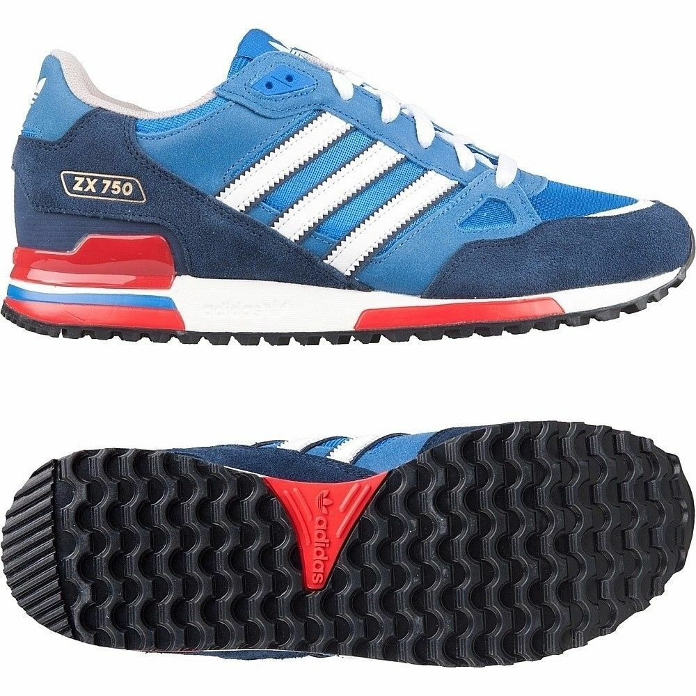 7d5e62177fe80 ... discount details about adidas originals zx 750 mens trainers royal blue  uk sizes 7 to 12