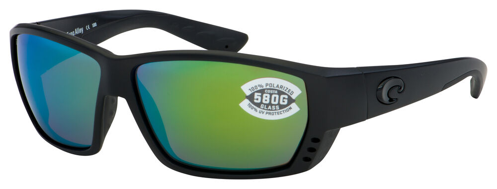 c499556828 Details about Costa Del Mar Tuna Alley Sunglasses TA-01-OGMGLP 580G  Blackout Green Polarized