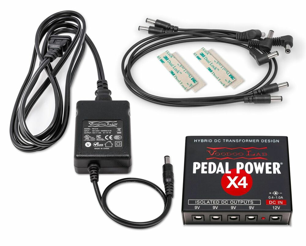 new voodoo lab pedal power x4 guitar pedal power supply 813140001277 ebay. Black Bedroom Furniture Sets. Home Design Ideas