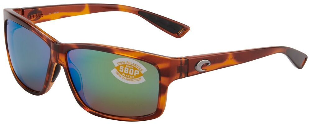 27bc68c491 Details about Costa Del Mar Cut Sunglasses UT-51-OGMP 580P Tortoise Green  Mirror Polarized