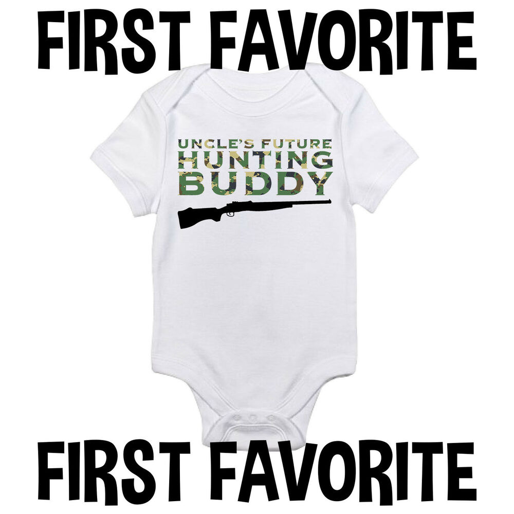 597a72f036753 Uncle Hunting Buddy Baby Onesie Shirt Shower Gift Infant Newborn Clothes  Gerber | eBay