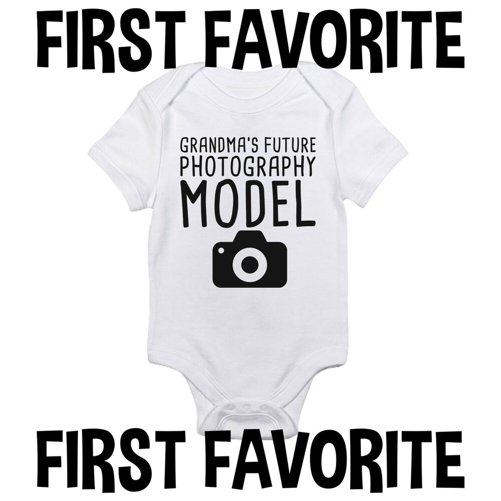 Details about grandmas photography model baby onesie shirt grandfather shower gift gerber