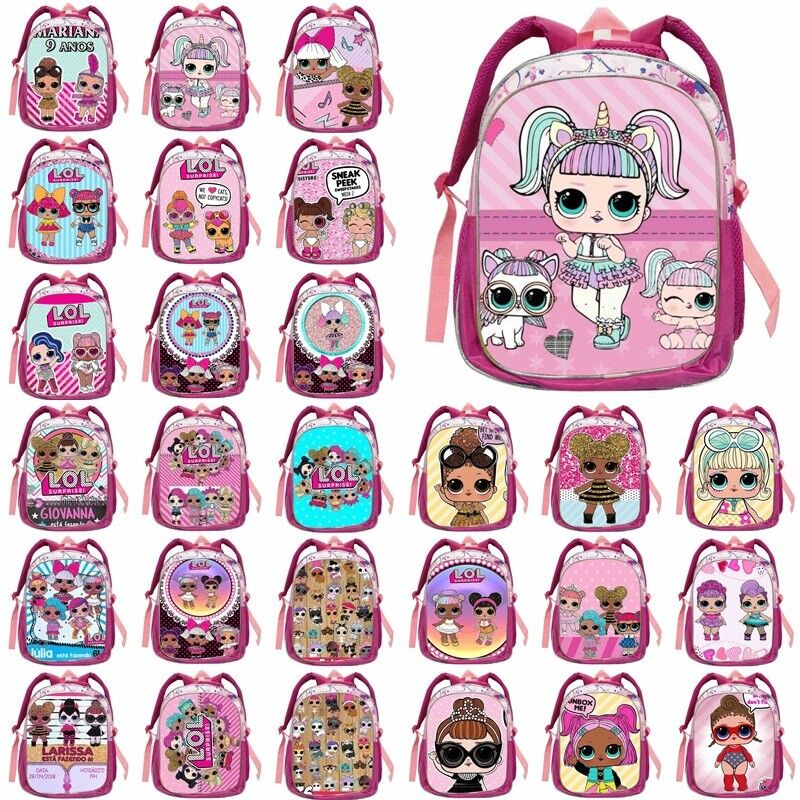 1302b2ae47 Details about 2019 NEW Pink 14   LOL Surprise Doll Backpack School Bag Kids Girls  Rucksack