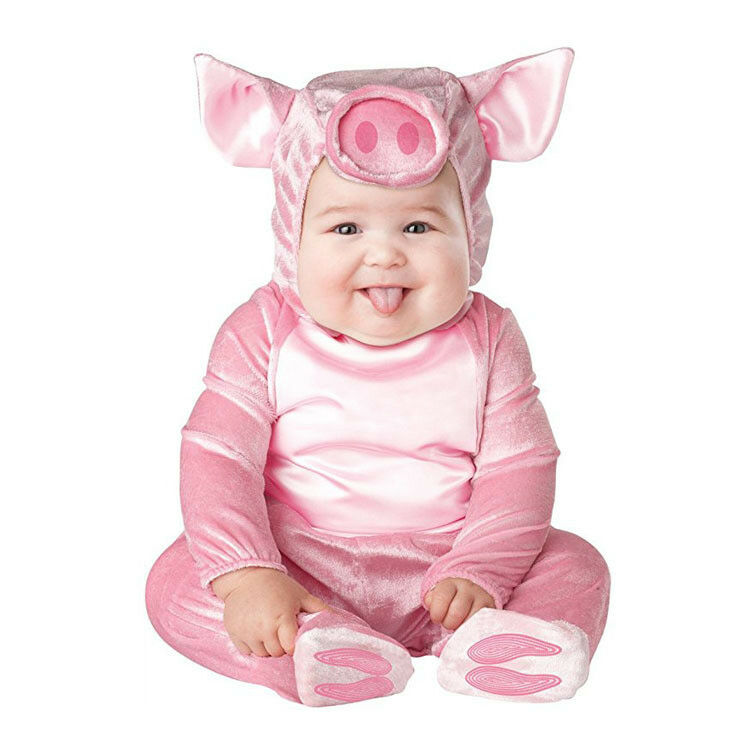 Details about pink pig Baby Halloween Rompers Animal Cosplay Jumpsuits Baby  Girls Costume a7c2dea7f2bb