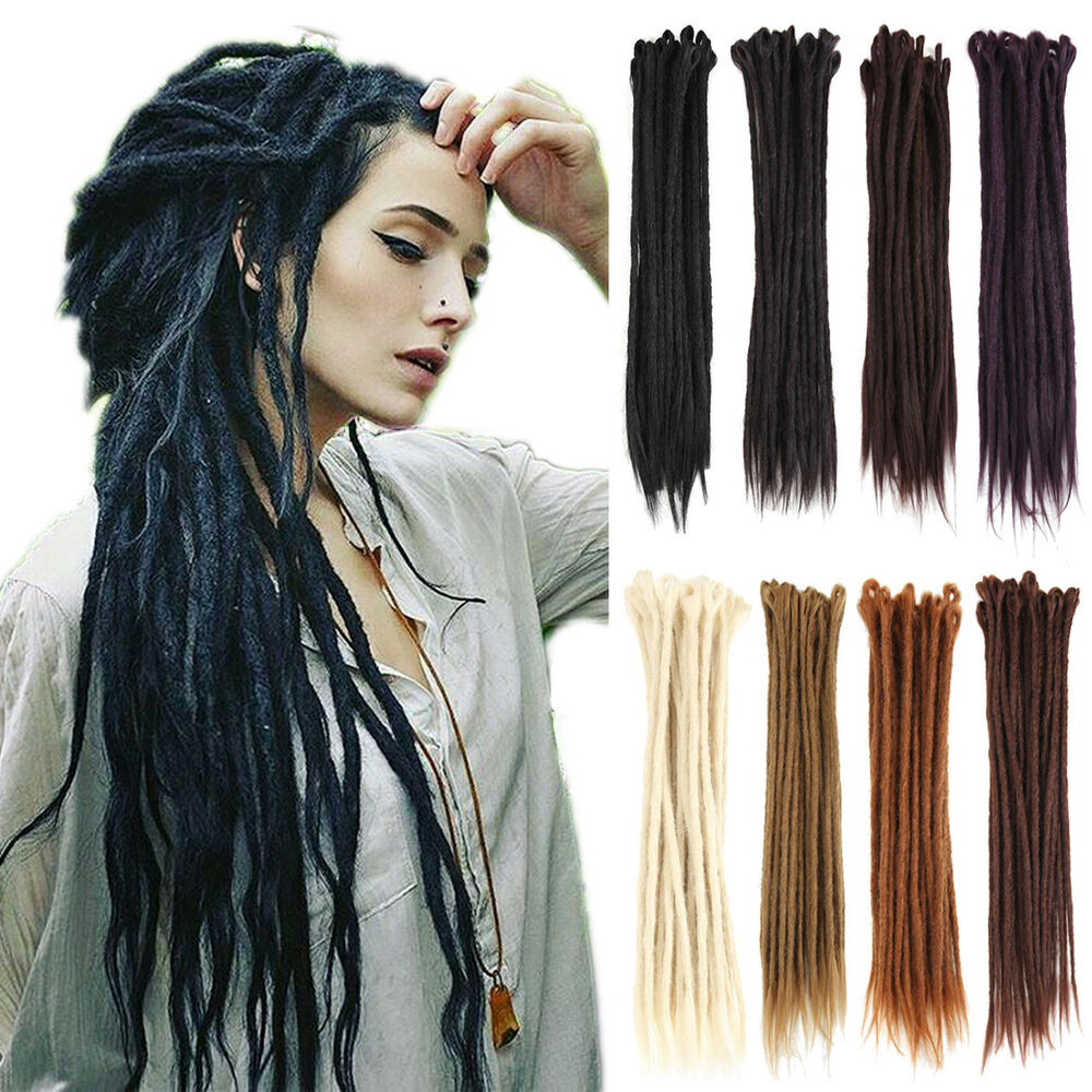 1PC 50cm/20 Synthetic Dreadlocks Extension Single Ended